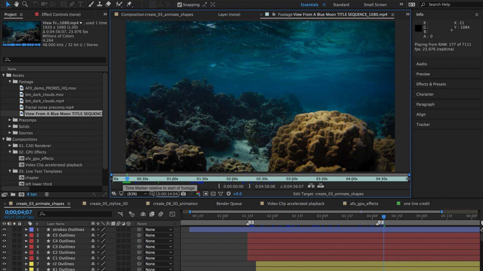 نرم افزار Adobe After Effects